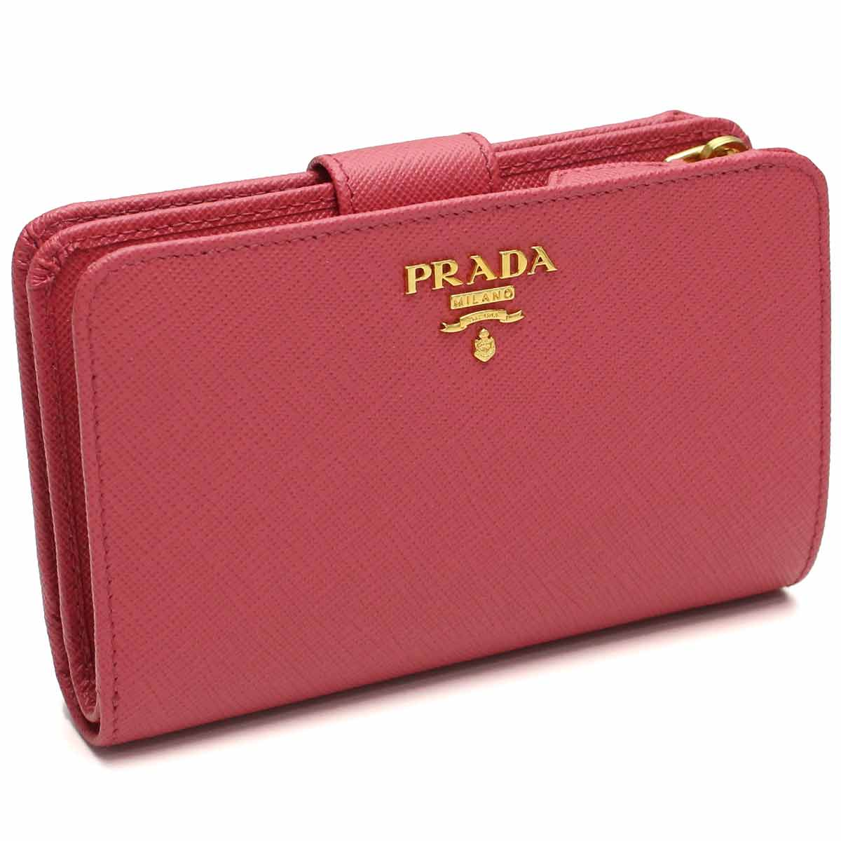 5c9f252dc0a0 ブランド品卸 / プラダ PRADA 財布 二折財布 小銭入れ付き 1ML225 QWA F0505 PEONIA ピンク系 レディース